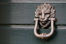 Free Heavy Italian Lion Door Knocker Stock Image - 16942461