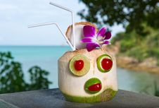Free Exotic Coconut Cocktail Royalty Free Stock Images - 16942729