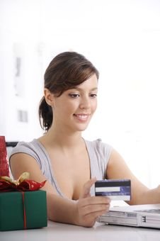 Free Young Woman In Shopping On-line Royalty Free Stock Image - 16942816