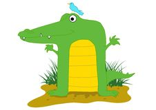Squared Croc Royalty Free Stock Image