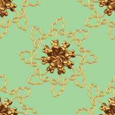 Free Gold Snowflake Pattern Royalty Free Stock Images - 16943319