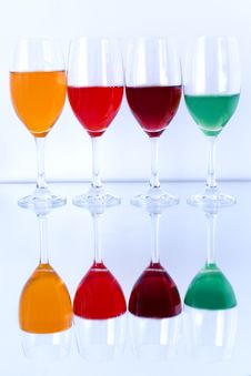 Free Colored Glasses In A Row Stock Photography - 16943402