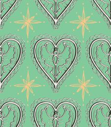 Free Silver Angel Holiday Heart Pattern Stock Photography - 16943412