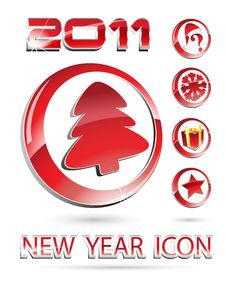 Free New Year Icon Set Royalty Free Stock Images - 16944109