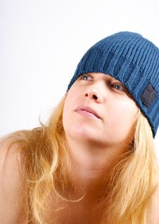 Free Blonde Girl In A Warm Hat Royalty Free Stock Image - 16944546