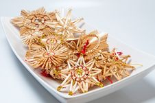 Free Christmas Straw Decoration Royalty Free Stock Photo - 16944695
