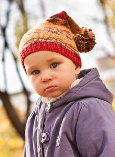 Free Beautiful Baby Portrait In Autumn Royalty Free Stock Photography - 16944707