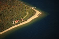 St. Martin Lighthouse, Michigan Royalty Free Stock Photos