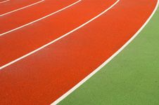 Free Running Tracks In A Sports Area Royalty Free Stock Photography - 16945307