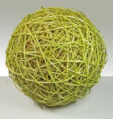 Free Full-sphere Made Of Willow Rods Royalty Free Stock Photography - 16946367