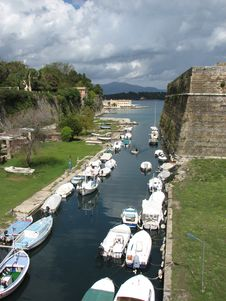 Free Old Fortress Canal In Corfu Royalty Free Stock Photography - 16947207