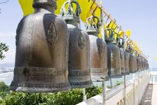 Free Bell In Buddhist Temple Royalty Free Stock Images - 16947459