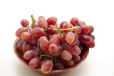 Grapes In The Wood Bowl Royalty Free Stock Images