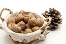 Free Walnuts In The Basket Royalty Free Stock Image - 16948926