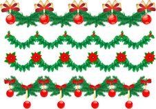 Christmas Garlands Royalty Free Stock Photography