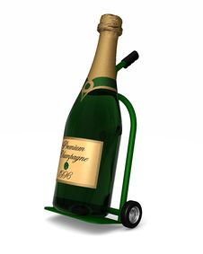 Free Chamagne Delivery Royalty Free Stock Image - 16949076