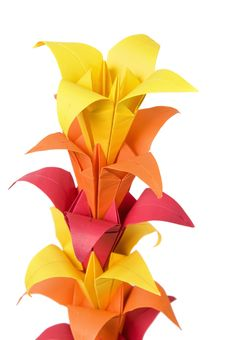 Origami Flowers Royalty Free Stock Photography
