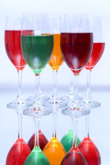 Free Colored Glasses In A Row Stock Photos - 16949403