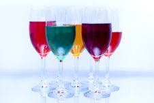 Free Colored Glasses In A Row Stock Image - 16949411