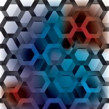Free Hexagon Rainbow Seamless Royalty Free Stock Images - 16949429