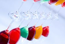 Free Colored Glasses In A Row Royalty Free Stock Image - 16949476