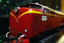 Free Red Old Locomotive Royalty Free Stock Photo - 16949625