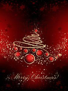 Free Christmas Card Royalty Free Stock Photos - 16949808