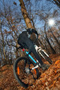 Free Mountain Cyclist Royalty Free Stock Photography - 16952927
