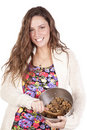 Free Happy Woman With Cookie Dough Stock Images - 16956914