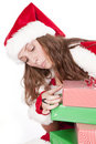 Free Mrs Santa Looking Around At Presents Stock Image - 16956961