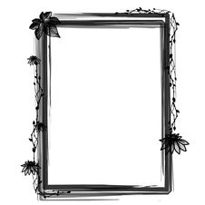 Free Grunge Floral Frame Stock Photo - 16950180