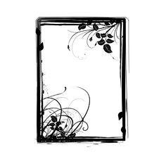 Free Grunge Floral Frame Stock Image - 16950181