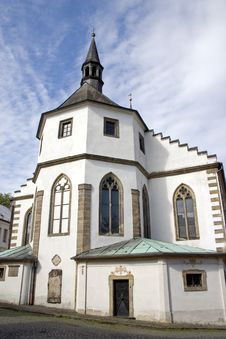 The Church Of The Czech Kamenice. Royalty Free Stock Photo