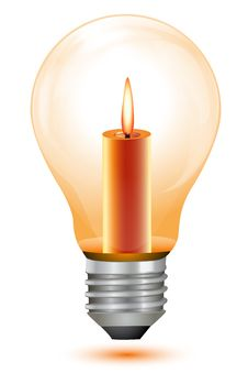 Candle Bulb Stock Images