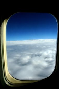 Free My Window View From Plane Royalty Free Stock Photo - 16951375