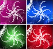 Free Set From Four Colored Wallpapers Royalty Free Stock Photo - 16951455
