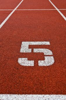 Free Athletics Track Lane Numbers Royalty Free Stock Photos - 16951508