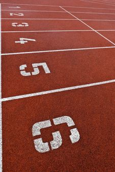Free Athletics Track Lane Numbers Stock Photos - 16952043