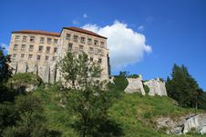 Pieskowa Skala Castle Royalty Free Stock Photos