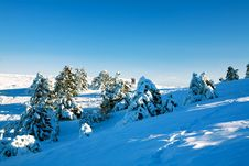 Free A View On A Snowy Valley Royalty Free Stock Photos - 16952848