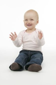 Free Merry Dinky Girl Stock Photography - 16953332