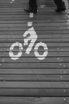 Cycle Path Royalty Free Stock Images