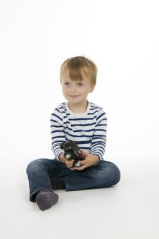 Free Boy With Toy - Car Stock Photography - 16953592