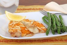 Free Fish Fillets And Asparagus Royalty Free Stock Image - 16953626