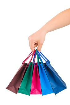 Free Hand With Shopping Bags Stock Photos - 16953913