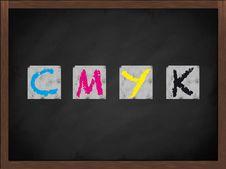 Free CMYK Symbol On Blackboard Stock Photography - 16953922
