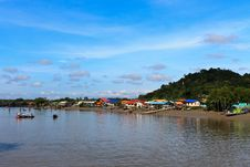 Free Village In Asia Near The River Royalty Free Stock Photography - 16954227