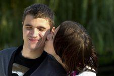 Free Romantic Kiss Stock Photo - 16954340