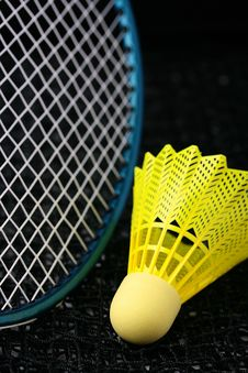 Badminton Equipment Royalty Free Stock Photos