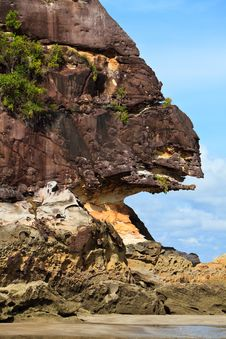 Free Hanging Rock On The Beach Stock Photos - 16954453